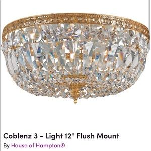 "12"" Gold Flush mount light"